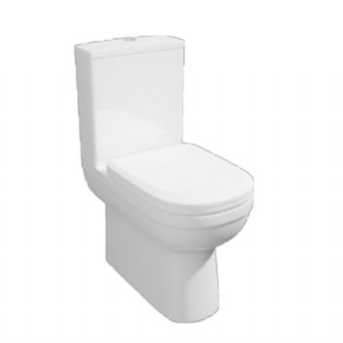 Kartell Lifestyle Close To Wall Close Coupled Toilet - Soft Close Seat - White